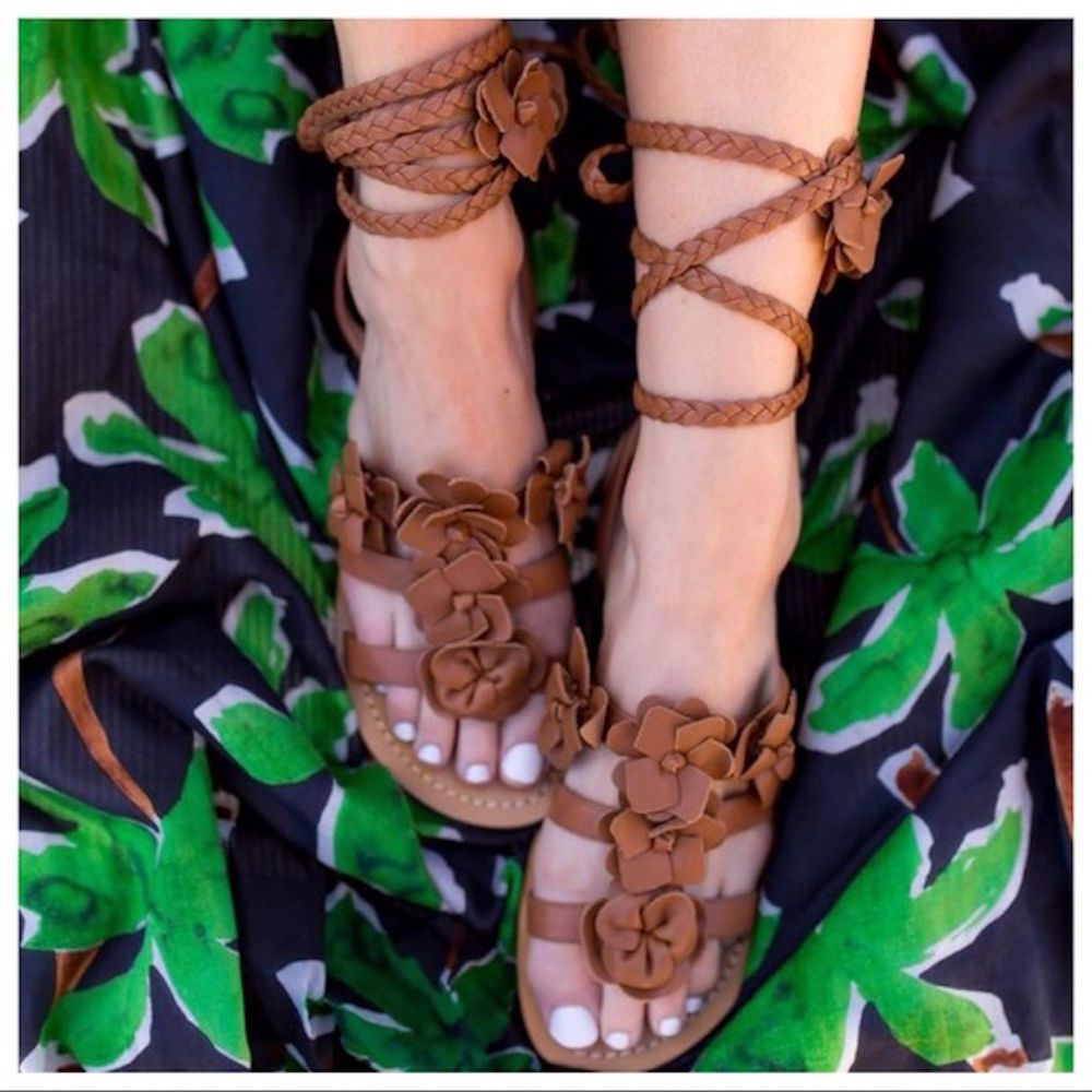 70cc9415a44 Tory Burch Blossom gladiator sandals size 7 new in box