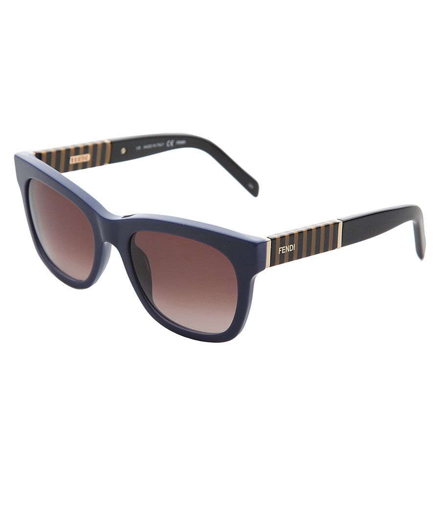 54 % off - Fendi Navy thick D-frame striped sunglasses, Designer ...
