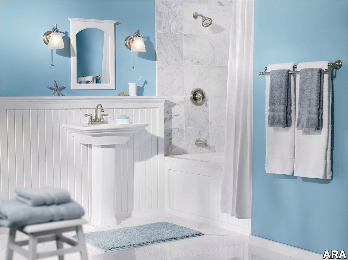 43 Perfect And Cheap Bathroom Accessories Decorating Ideas 97 Blue Bathroom Accessories Decor Ide Blue Bathroom Decor Light Blue Bathroom Blue Bathroom Mirrors