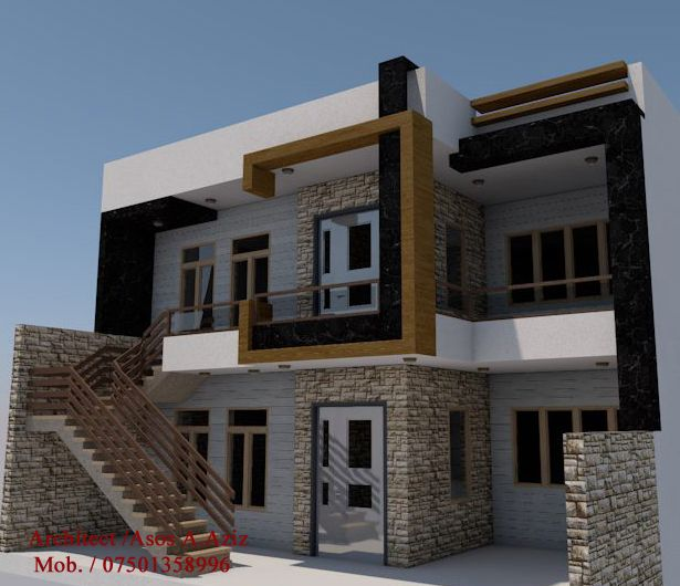 10m front elevation 3d house design elevation for 10m frontage home designs