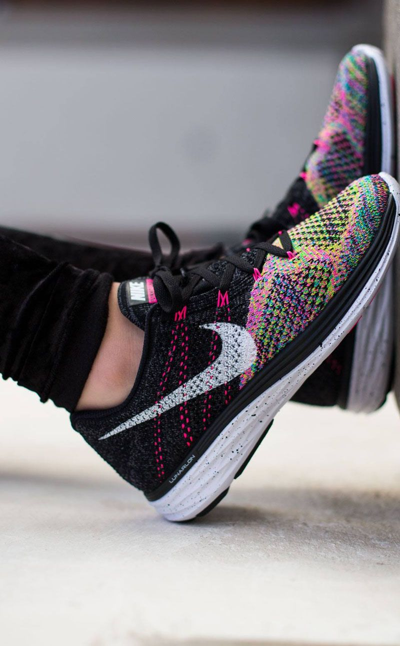 d397df4d6d88 The Flyknit Lunar 3 s look really nice with any black or white workout  outfit. Also