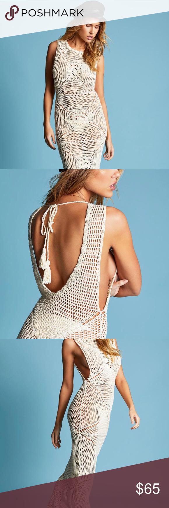 Frankie's bikinis crotchet dress/ swim cover up Bought this and it doesn't fit NWT Frankie's Bikinis Swim Coverups