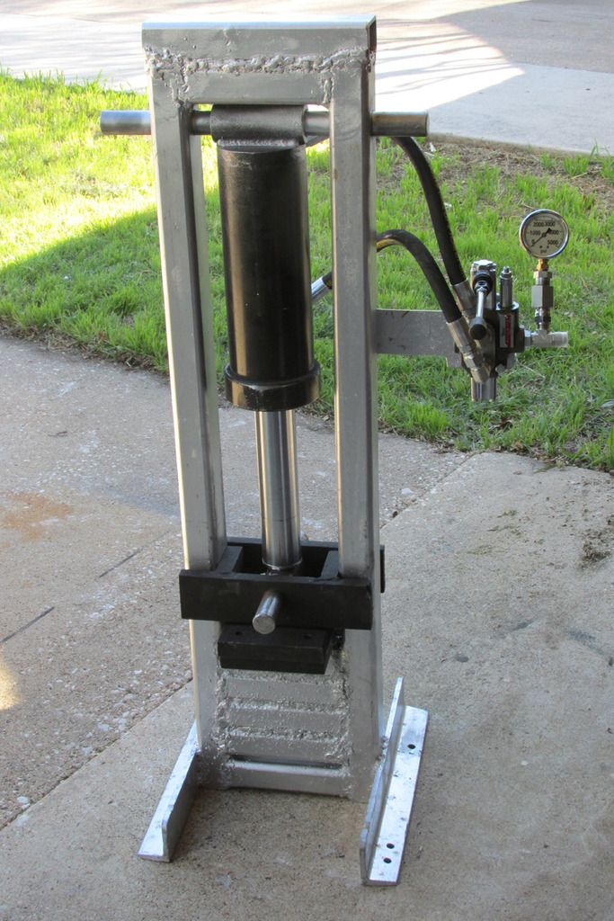 Tabletop Hydraulic Press Table top, Power hammer, Diy