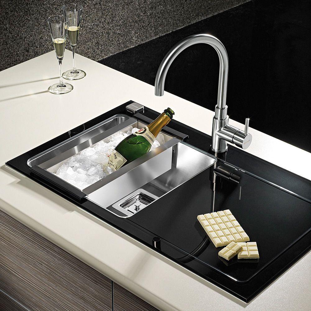 pyramis crystalon 1 0 bowl black glass stainless steel kitchen rh pinterest com