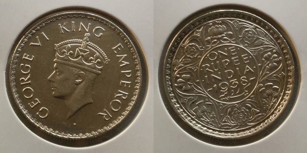 British India George Vi 1938 1 Rupee Silver Error Coin Extremely Rare Ip 150 Error Coins Coins World Coins
