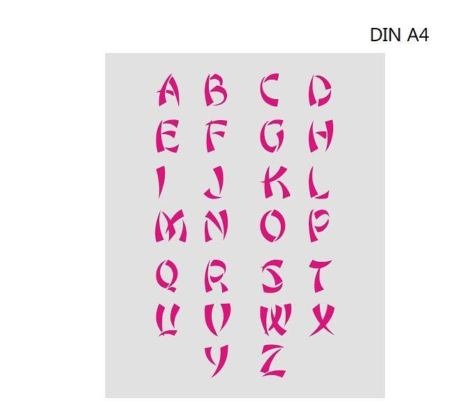 buchstaben schablone zum ausdrucken din a4