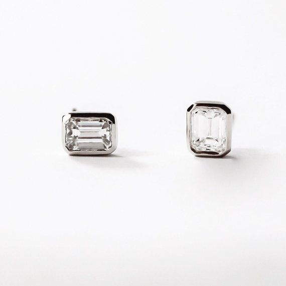diamond carat t ip stud w black earrings silver round sterling