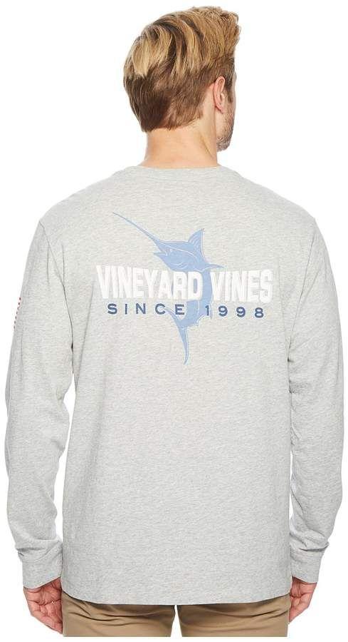 02538592a Vineyard Vines Long Sleeve 98 Marlin Pocket Tee Men's T Shirt ...