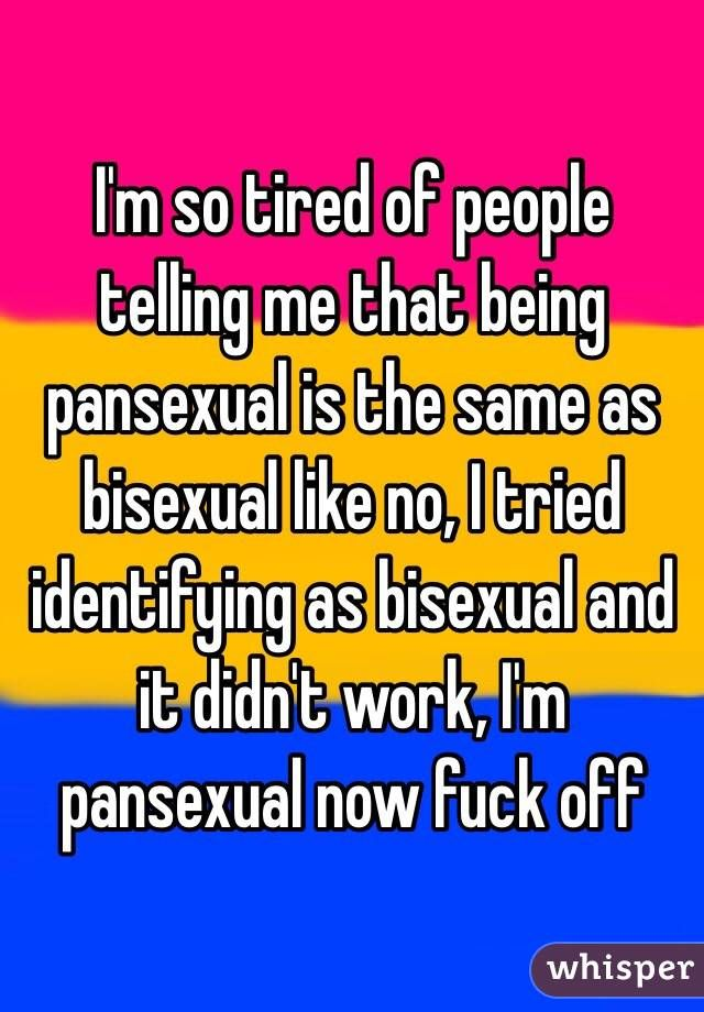 What the hell does pansexual mean