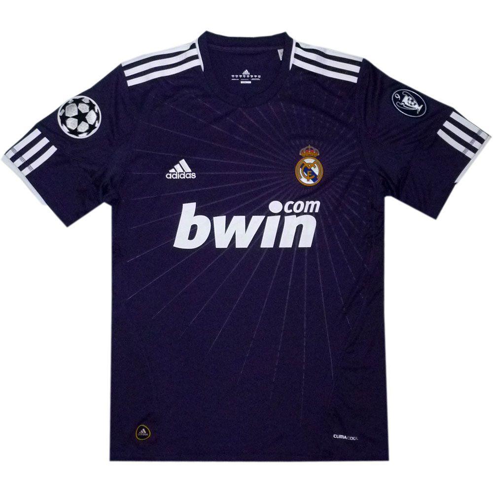 Real Madrid Away 2010 11 Logo Champions L Real Madrid Blue Jersey Real Madrid Team Real Madrid