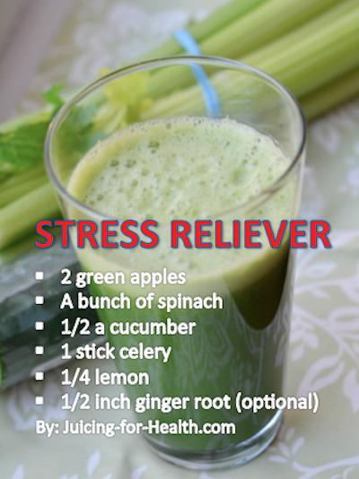 Stress Reliever — Juicing For Health #JuiceTipsWeightLoss