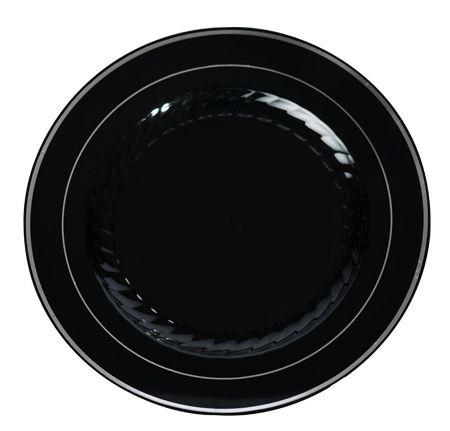 Round 10  Dinner Plates - High quality upscale Disposable Dinnerware. Silver Splendor  sc 1 st  Pinterest & Round 10