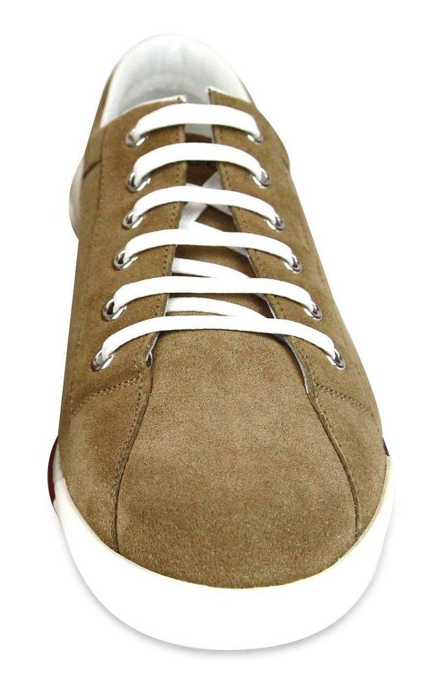 3ff442efa01 Gucci Women s Brown Suede Script Logo Trainer Sneakers 281017 CBB00 2309  Size Gucci Sneakers - 38.5