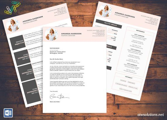 Resume /CV Template, Cover Letter for MS Word,Curriculum Vitae