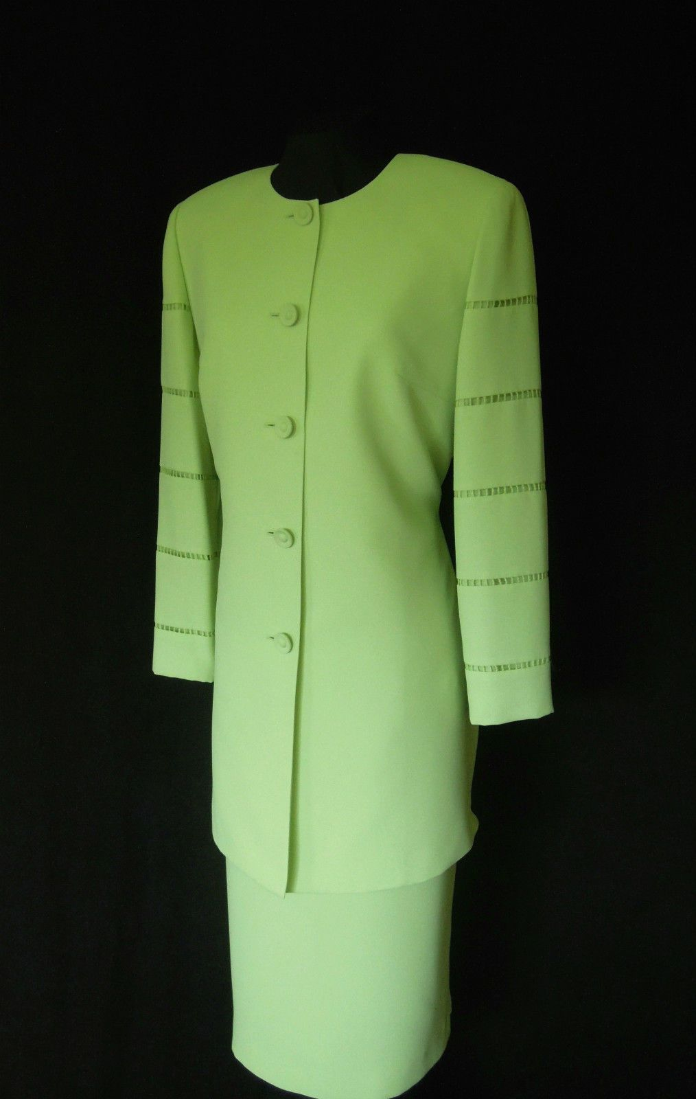 Condici Green Dress And Coat Suit Size 14 Wedding Outfit Ladies
