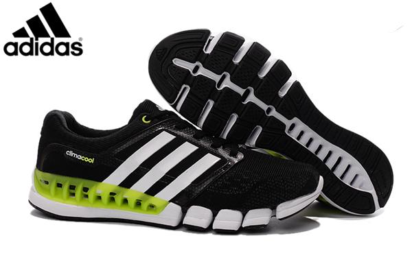 Men s Women s Adidas Climacool Revolution Running Shoes Black Green ... 90929ff726