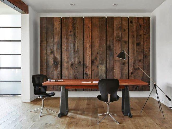 Revestimientos de madera reciclada. Inspiración|Espacios en madera ...