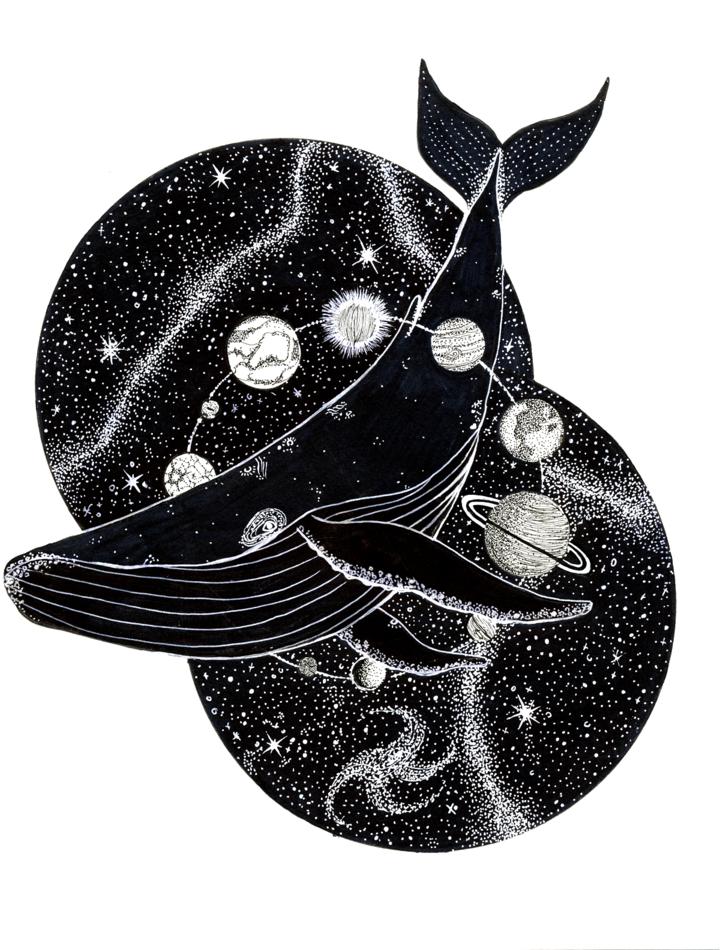 Cosmic Whale Print