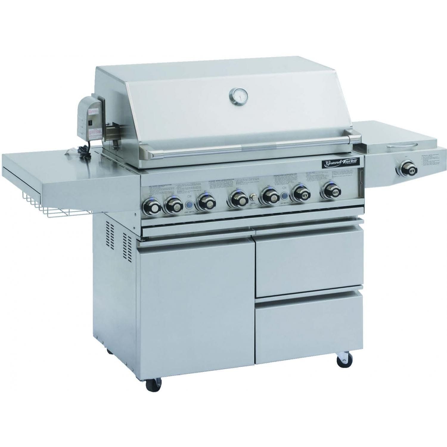 Grand Turbo By Barbeques Galore 38 inch Propane Gas Grill Cart