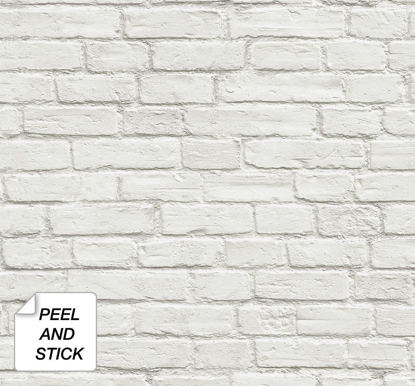 Peel And Stick Self Adhesive Wallpaper Brick Peel And Etsy In 2021 White Brick Wallpaper Removable Brick Wallpaper Brick Wallpaper
