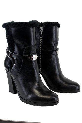 MICHAEL-KORS-LIZZIE-BLACK-LEATHER-ANKLE-BOOTS-SIZE11M-MSRP-265-00