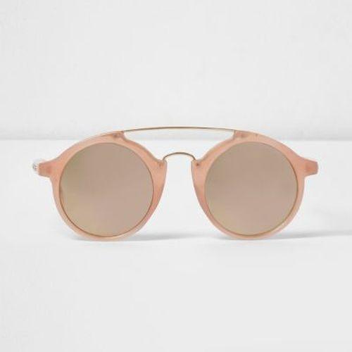 lunettes de soleil dor rose verres circulaires les. Black Bedroom Furniture Sets. Home Design Ideas