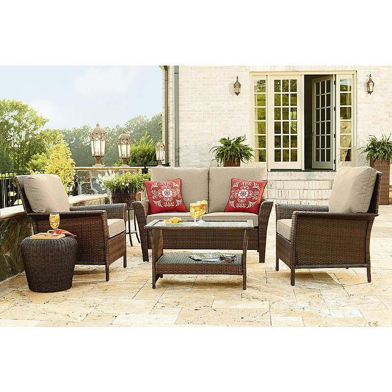 Clearance Furniture Near Me: Ty Pennington Style Parkside 4 Piece Deep Seating Set