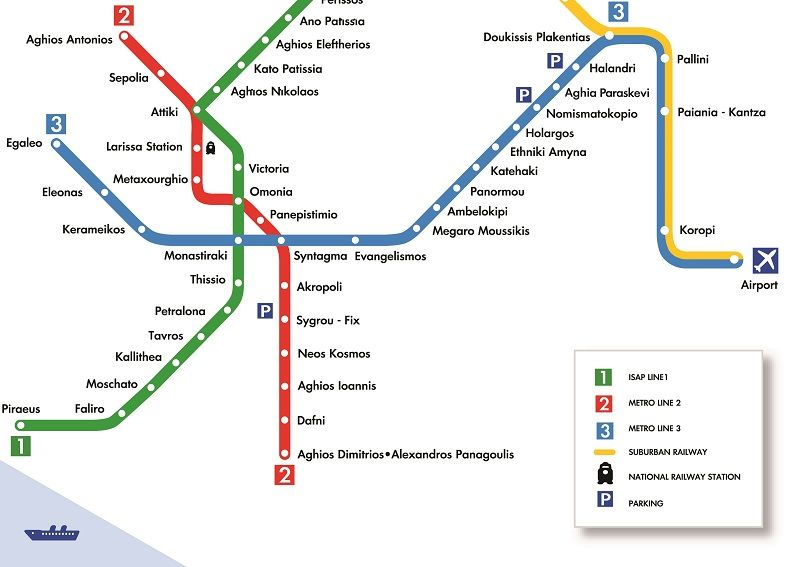 Athens Airport To City Transport Athens Metro Metro Map Athens