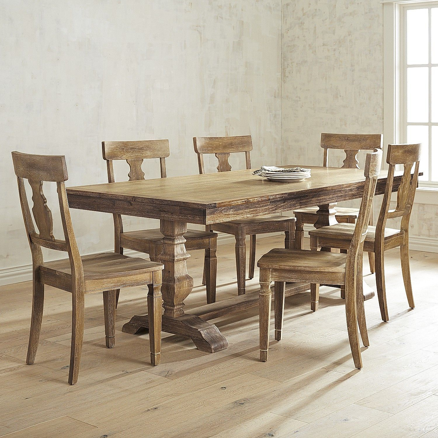 Simply Solid Samaria Wood 7 Piece Dining Collection