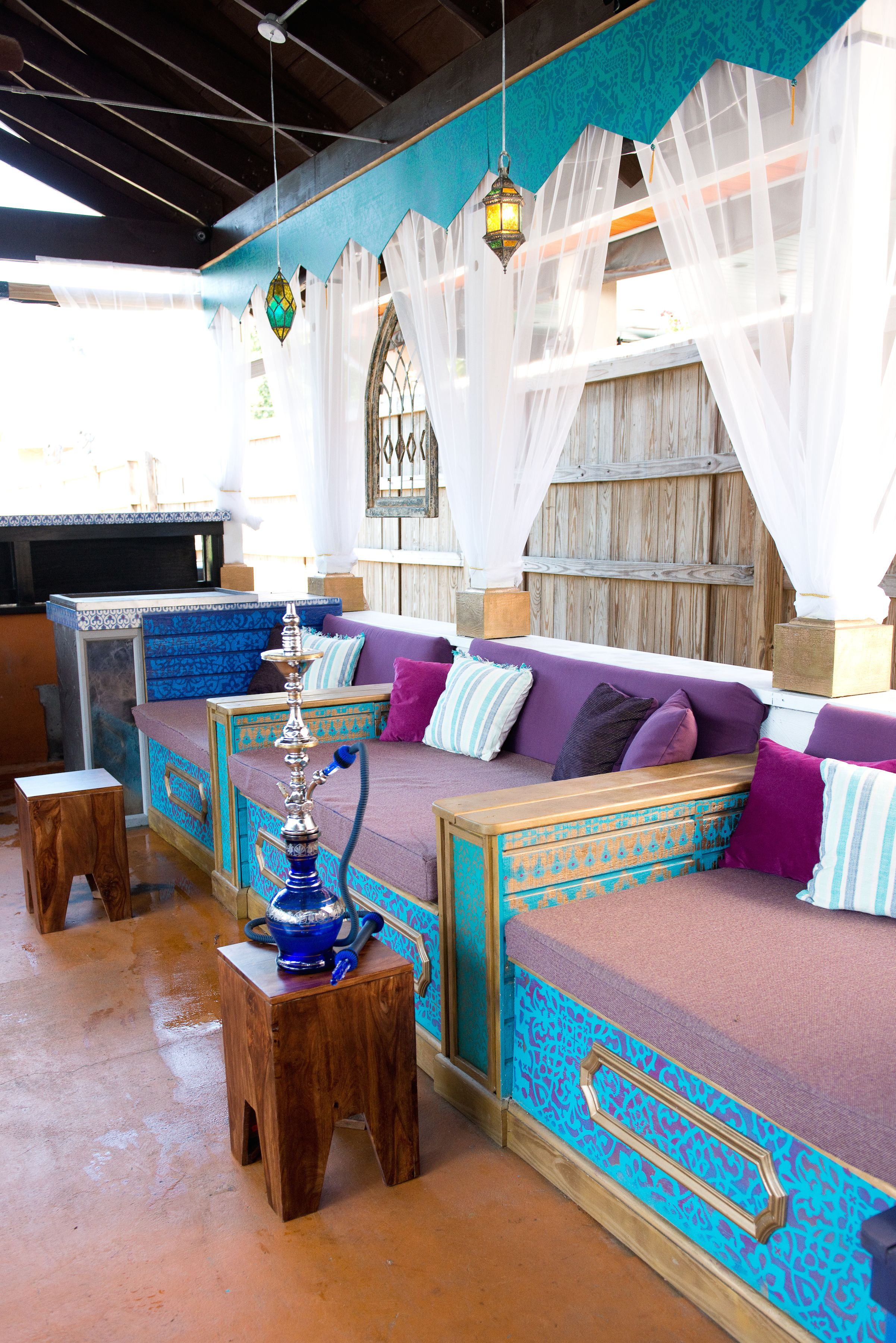 moroccan decor priya hookah bar and lounge charleston sc by jlv creative jlv creative. Black Bedroom Furniture Sets. Home Design Ideas