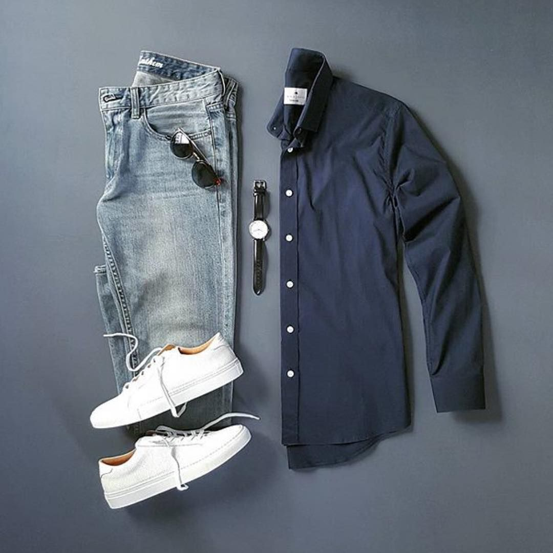 909 отметок «Нравится», 3 комментариев — Mens lifestyle 247 (@menslifestyle247) в Instagram: «Relaxed Casual Outfit - - Shirt:@pacificissue Denim:@flagandanthem Brattleboro…»