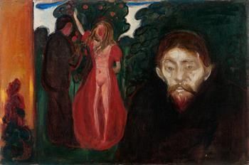 Copyright © Edvard Munch: Sjalusi, 1895. © Munch-museet / Munch-Ellingse