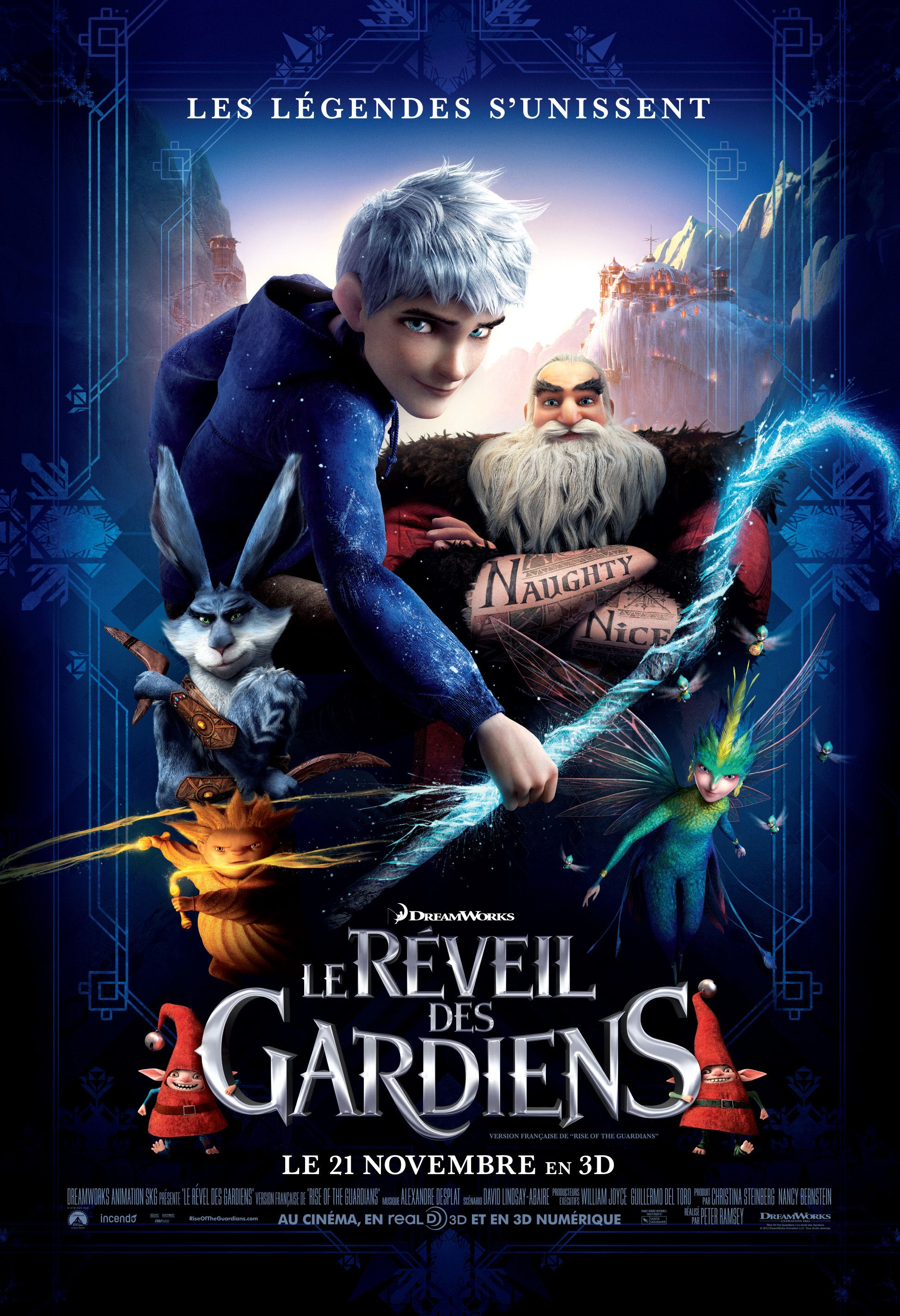 Characters of dreamworks d dreamworks animation photo pictures to pin - Rise Of The Guardians Film Poster French Canadian Version Courtesy Dreamworks Animation Visit