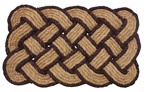 J M Home Fashions Lovers Knot Coco Doormat 22 By 36 Dark Brown    Visit The