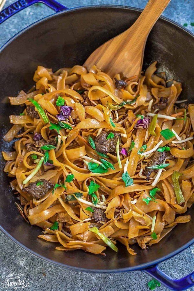 beef chow fun  cantonese stir fried ho fun rice noodles