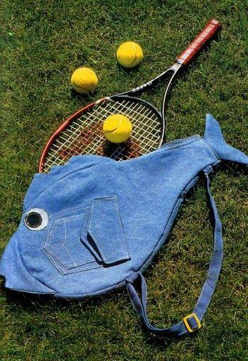 pattern is there! Tennis racket cover tote