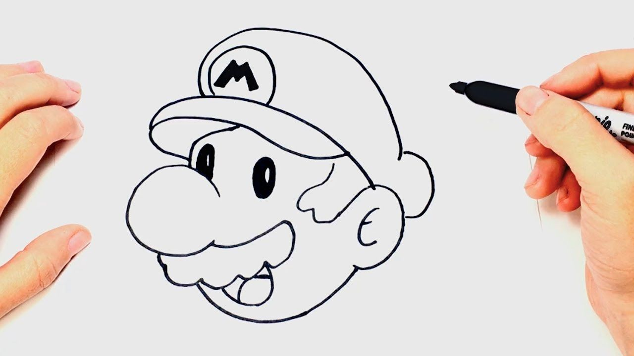Toad Drawing Easy Mario - On Log Wall