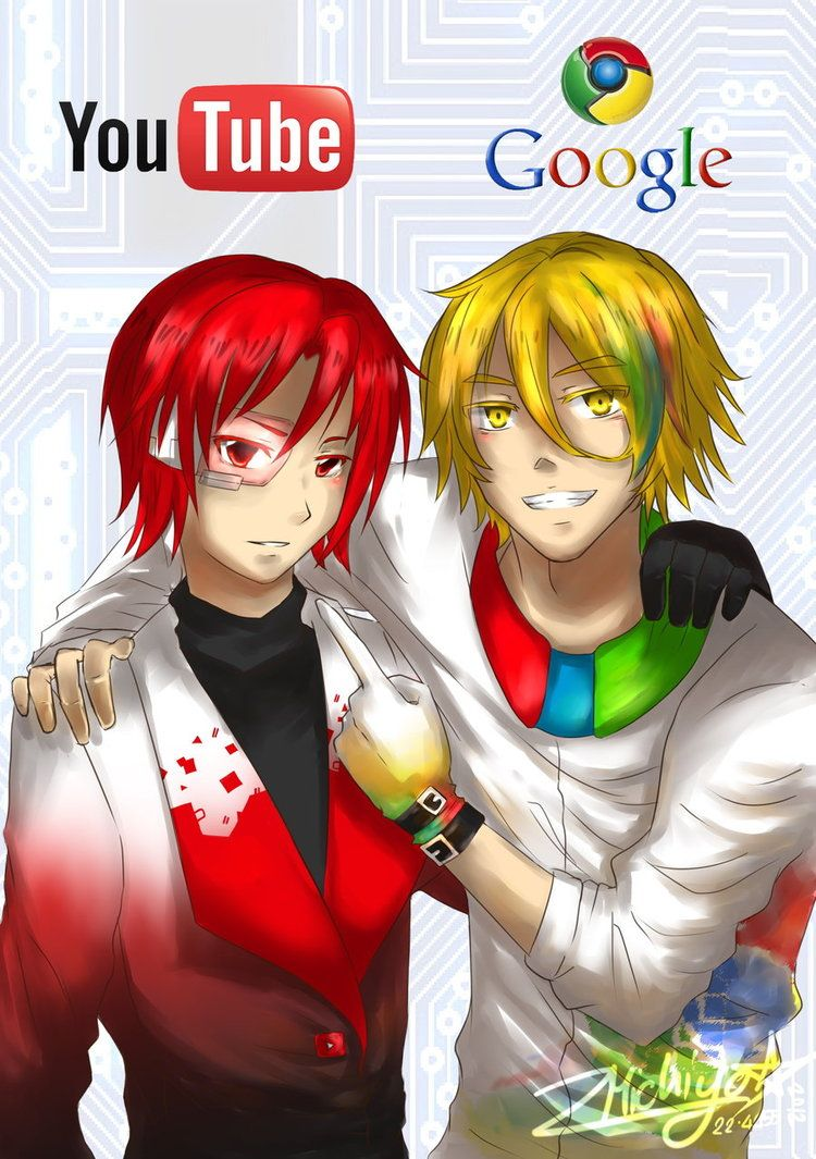 google x youtube by smichiyo on deviantart gijinka in 2019 anime google youtube. Black Bedroom Furniture Sets. Home Design Ideas
