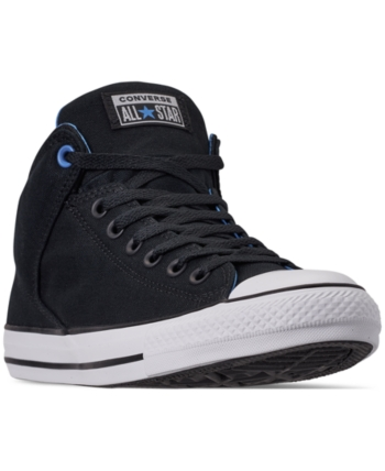 2dfb85dd330ddd Converse Men s Chuck Taylor All Star High Street Casual Sneakers from Finish  Line - Black 9.5