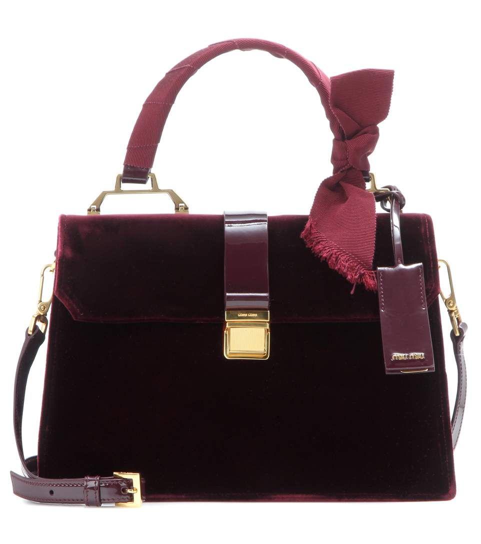 00bfa599dfe1 MIU MIU Velvet Tote.  miumiu  bags  velvet  tote  patent  lining  shoulder  bags  hand bags