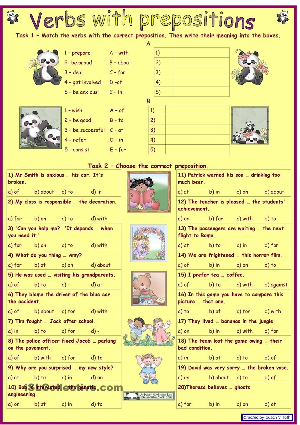 worksheet Advanced Preposition Worksheets verbs with prepositions 1 for intermediate and advanced learners key fully editable worksheet free esl prin