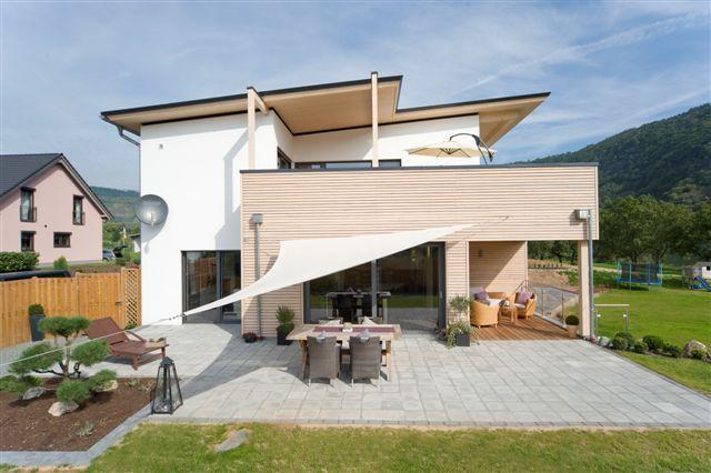 Ziegler holzbau gmbh wohnh user mit pultdach bauen for Moderne wohnhauser