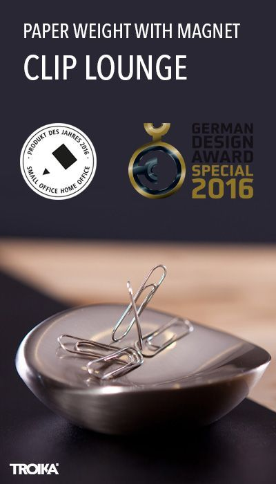Troika Clip Lounge Paperweight With Magnet For Paper Clips Paperworld Product Of The Year 2016 Briefbeschwerer Mit Magnet Fur Buroklammern Papelaria