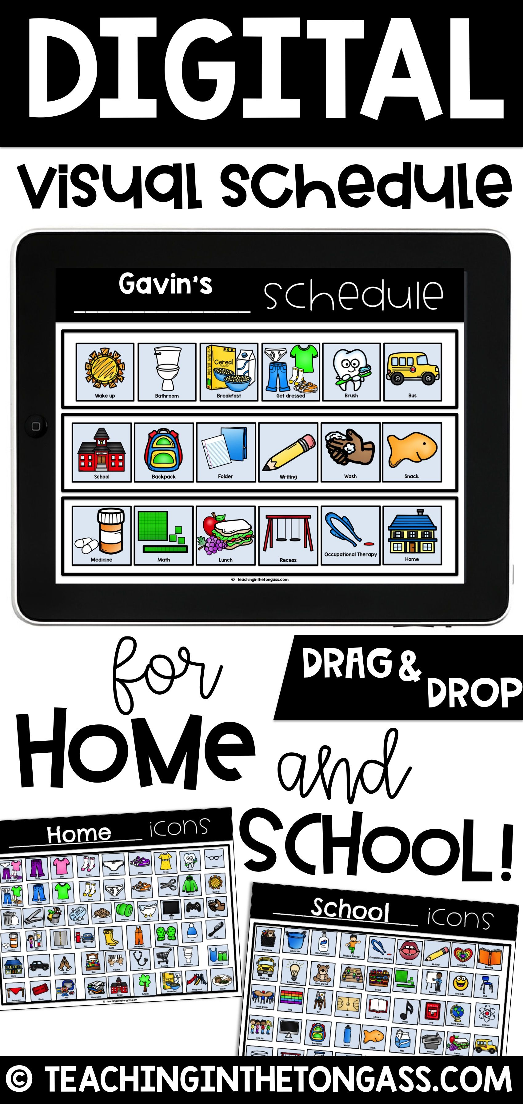 Visual Schedule First Then Board (print or use with Google