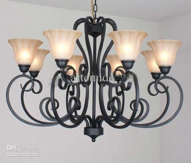 Rustic traditional black wrought iron chandelier dining room pendant rustic traditional black wrought iron chandelier dining room pendant light dia 92cm 43913piece dhgate home ideas pinterest wrought iron mozeypictures