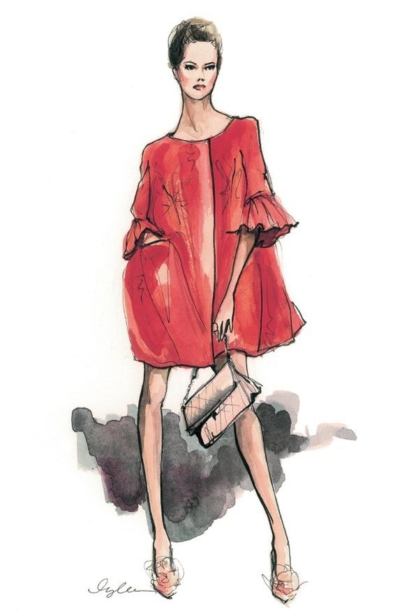 Scarlett swing coat w/ bell sleeves ~ Inslee Haynes.