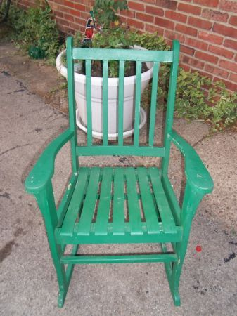 Pittsburgh: Country Green Mid Size Porch Rocker Rocking Chair / Patio  Furniture $35