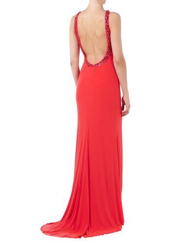 Abendkleid rot ruckenausschnitt