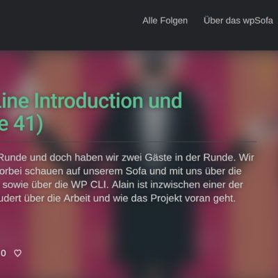 WP Sofa, ein neuer WordPress Podcast (Deutsch): https://www.publishingblog.ch/wp-sofa-ein-neuer-wordpress-podcast-deutsch/