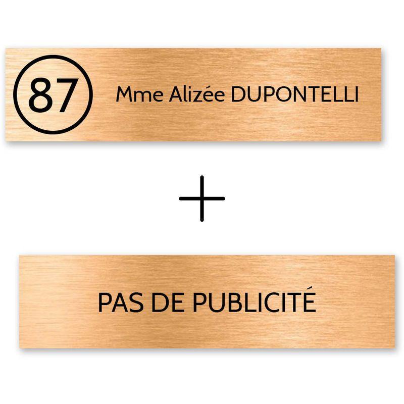 Or 100x25mm plaque ou etiquette de boite aux lettres 1 ligne